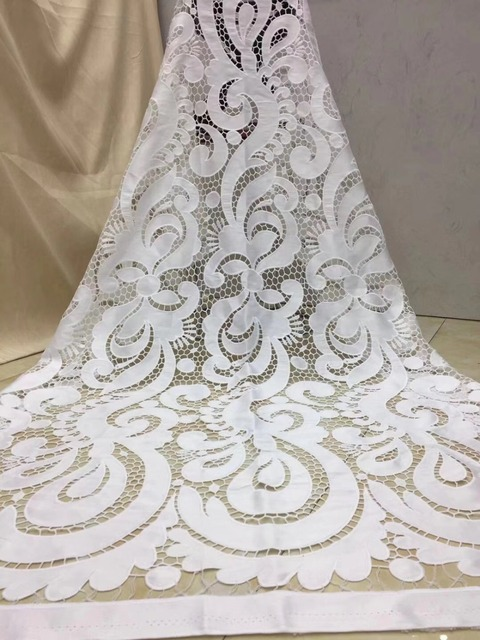 2018 African Cord Lace High Quality French Lace Fabric royal blue Color African Lace Fabric For Nigerian Wedding Dress 1