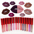 Kit Set Mujeres Labios Maquillaje Maquiagem mate Lápiz Labial Labio Líquido brillo de labios Bálsamo Para Los Labios Brillo de Labios Rojo maquillaje Batom Navidad regalo