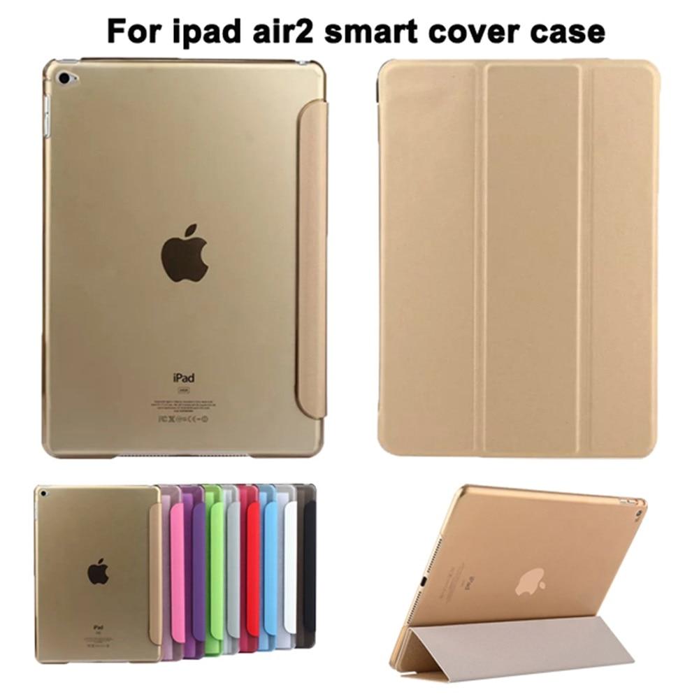 Tablet PC Cover Kasus untuk iPad air2 9.7 inch Ultra Slim Magnetic Tablet Kasus untuk Apple ipad6 A1566 A1567 dengan Screen Protector