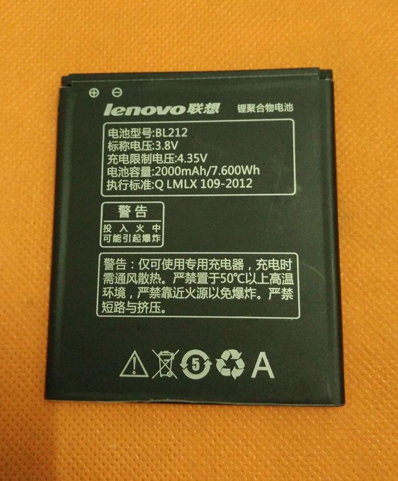 Original 2000mAh Battery Batterie Batterij Bateria For Lenovo S898T+ MT6592 Octa Core 5.3'' HD TD-SCDMA