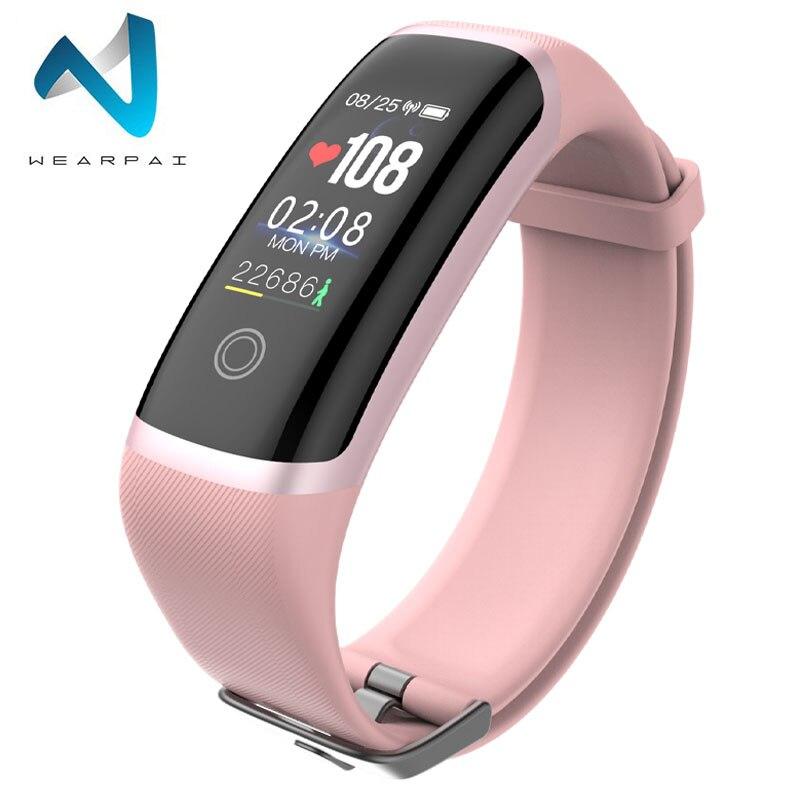 Relógio Do Esporte Da Aptidão M4 Wearpai Pulseira de Calorias Monitor de Freqüência Cardíaca Inteligente Lembrete de Chamada À Prova D' Água Relógio Inteligente para iPhone xiaomi