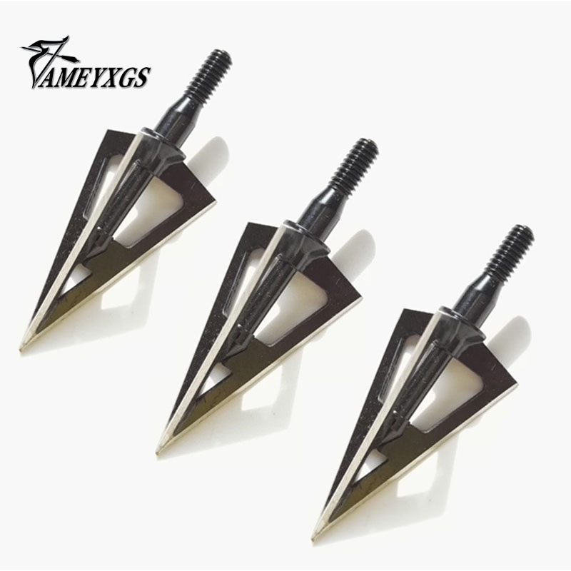 Archery Arrow Heads 100Grain Broadheads Hunting Screw Arrowheads 2 Blade Points