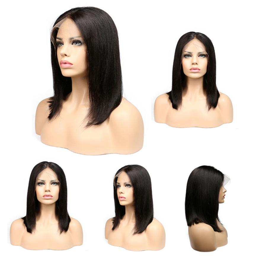 Wig Ladies Fashion Women Charming Europe and America Wigs Black Hair Short Wigs Black Brazilian Lace Hair Styling Accessory A17 graceful short side bang fluffy natural wavy capless human hair wig for women