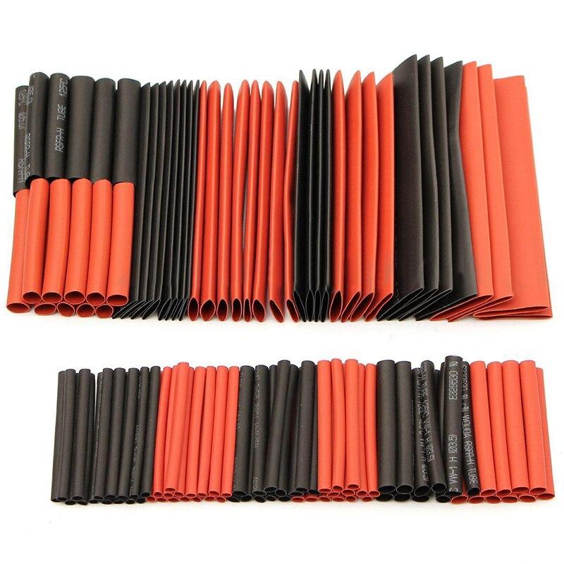 88abf8ea229 Nuevo 127 unids/set 2:1 poliolefina heat shrink tube tubo manguitos manguito  Alambres Kit
