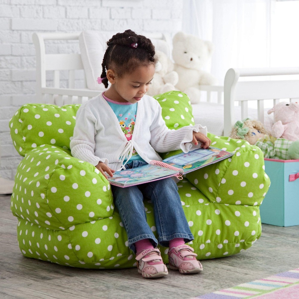 Twill Polka Dot Dinosaur Zebra Chevron Bird Safari Zoo Circle Mi Kids Bean Bag,13 colors available, child portable bean chairs