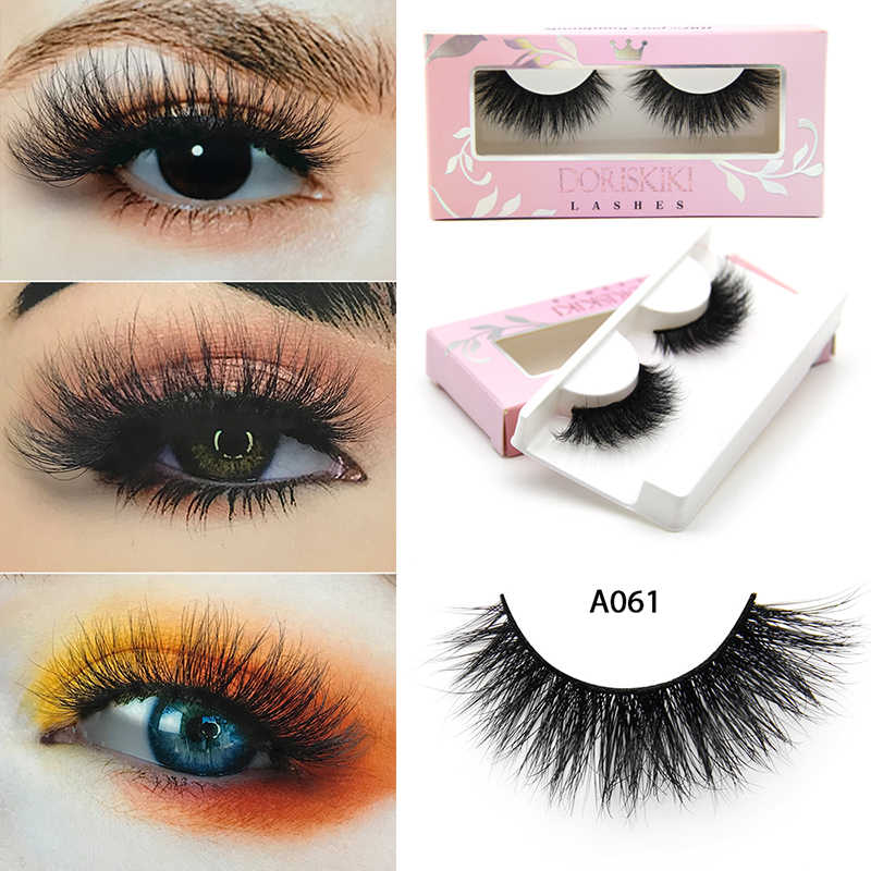 6fd57c9e006 A061 3D Mink eyelashes natural winged strip lashes last long fake lashes  medium dramatic false lashes
