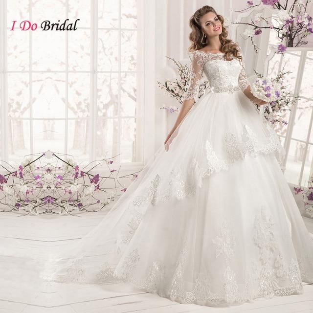 Aliexpress.com : Buy Designer White Gown Wedding Lace Gothic ...