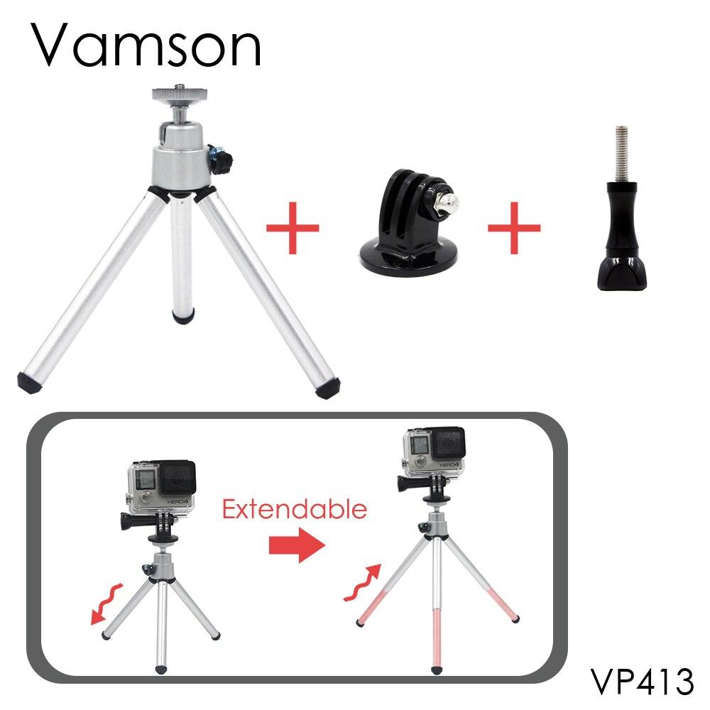 Vamson for Go Pro Accessories Mini Scalable Monopod Tripod For GoPro Hero 5 4 3 2