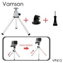 Vamson для Go Pro аксессуары мини масштабируемой монопод Штатив для GoPro Hero 5 4 3 + для Sj4000 для Xiaomi Для Yi камеры VP413