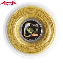 Alpha Tennis String 200m Reels 1.3mm Tenacity Durability Crimp Tennis Racquet String Playability Gold Gym Tennis Training Net