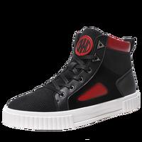 New Casual Shoes Boy Black Beige Men Walking Footwear High Top Platform Shoes Male Rubber Sole Non Slip Fashion Shoes for Mens