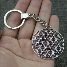 48x44mm The Flower Of Life, Seed Life Keychain Men Jewelry New Vintage Party Gift Dropshipping Jewellery
