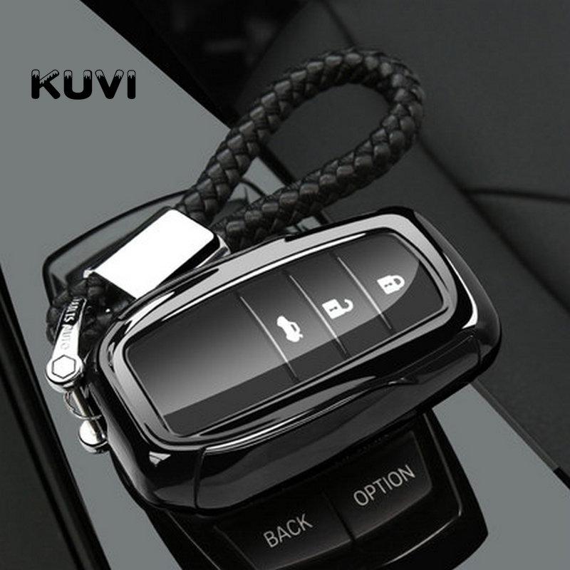 ТПУ для Toyota Hilux Fortuner Land Cruiser Camry силиконовый чехол для дистанционного ключа чехол для брелока оболочка кожаный держатель 3 кнопки 2016 2017 2018