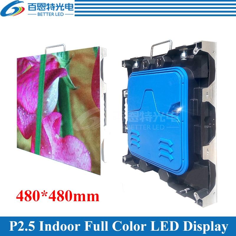 12pcs/lot 480*480mm 192*192pixels 1/32 Scan RGB P2.5 Indoor Full Color LED Display
