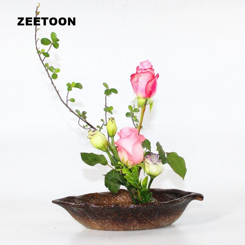 Japanese Coarse Pottery Flower Pot Tabletop Vase Ceramic