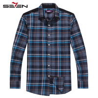 Seven7 Brand Mens Dress Shirts Classic Striped Men Dress Shirts Long Sleeve Men S Casual Fashion