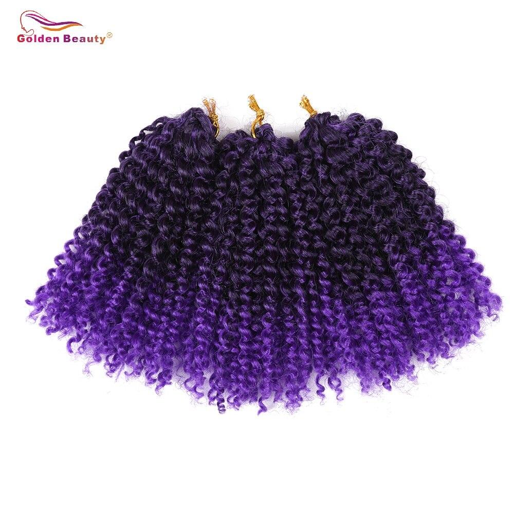 Golden Beauty 8inch Kinky Curly Syntetisk Braiding - Syntetiskt hår - Foto 3