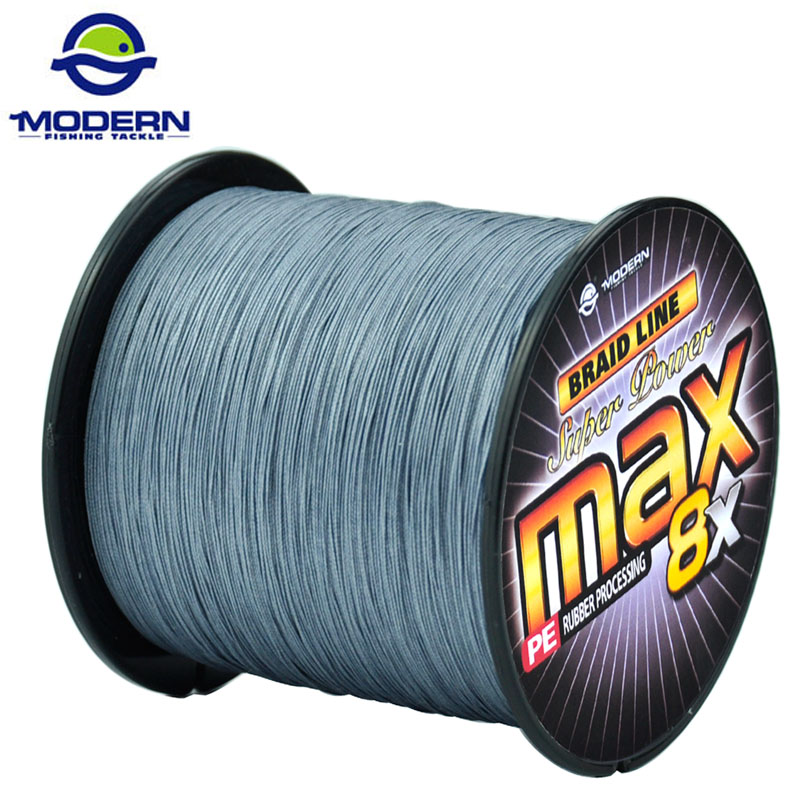 1000M MODERN Fishing Line Super Strong Japan Multifilament PE Braided Fishing Rope 8 Strands Braided Wires
