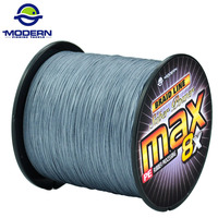 1000M MODERN FISHING BRAND Super Strong Japan Multifilament PE braided fishing line 8 strands braided wires 20 to 100LB