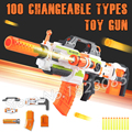 100 Changeable Combination Electric Gun Soft Bullet Plastic Toys Machine Guns Bursts Compitable with N-Strike Modulus Gifts