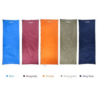Lixada 190 * 75cm Outdoor Camping Bag Hiking Sleeping Bag Multifunctional Ultra-light Envelope Hooded Sleeping Bed Lazy Bag 3