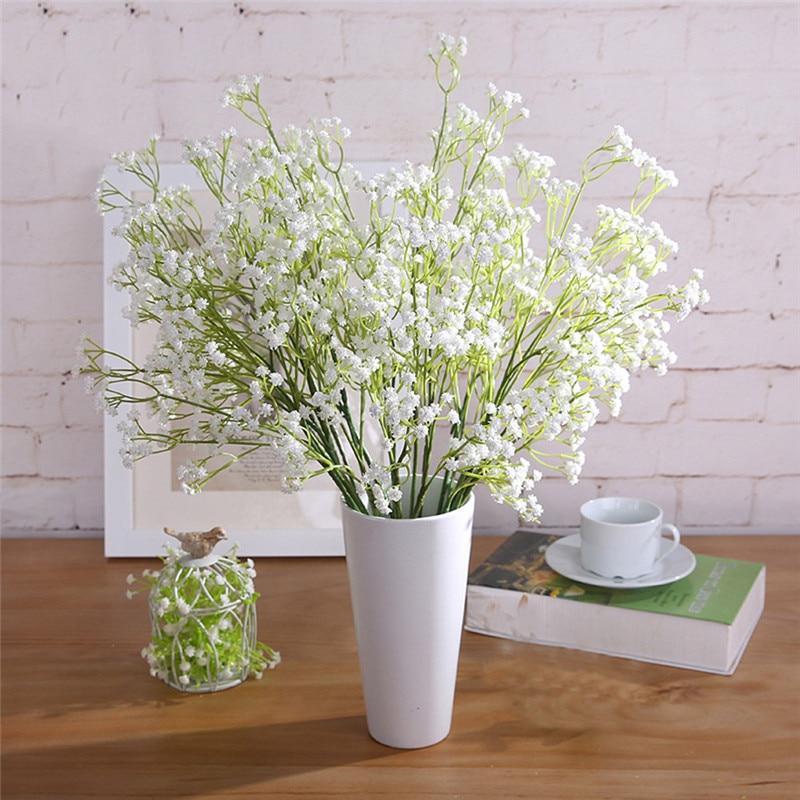 6pcs Floral Gypsophila Artificial Fake Silk Flower Plant Party Wedding Home office table decor ornament flower bush on sale