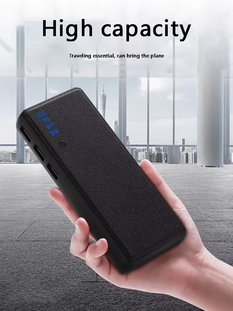 10000mah Power Bank External <font><b>Battery</b></font> PoverBank 3USB LCD Powerbank Portable Mobile phone Charger for <font><b>Xiaomi</b></font> <font><b>MI</b></font> iphone7 5 x 18650 image