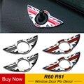 2 шт./компл. салона окно Pin-код защиты дверной штифт наклейки Декор Аксессуары для мини S Countryman, Mini Paceman, R60 R61 стайлинга автомобилей