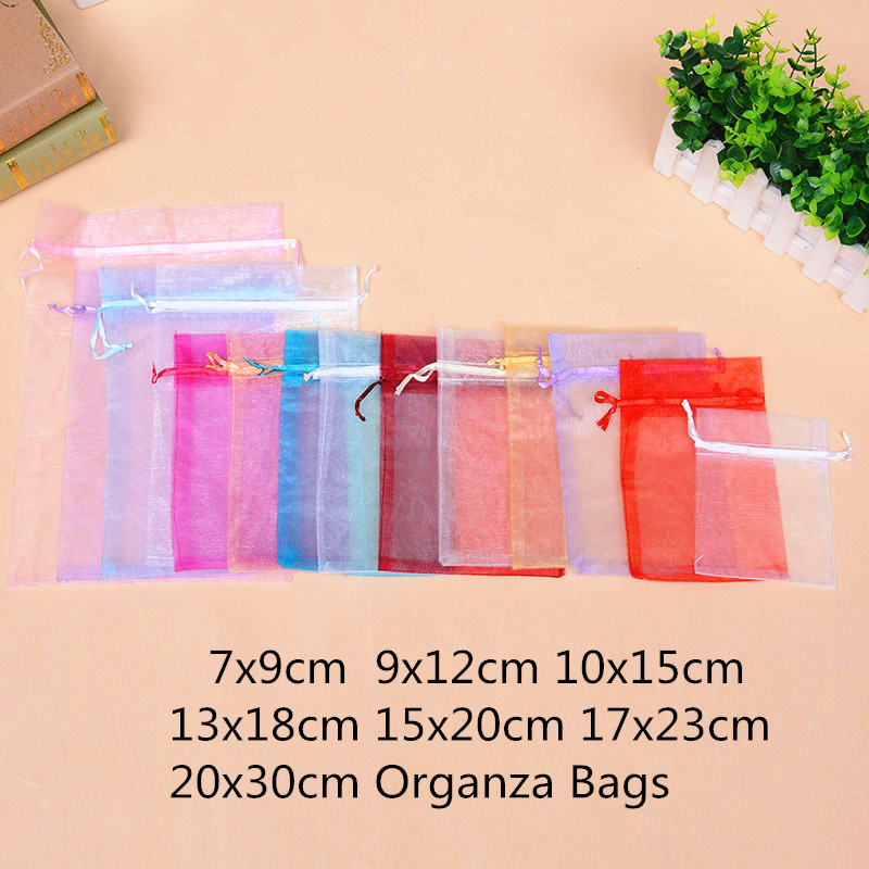 10pcs 15x20cm 17x23 20x30 Organza Gift Bags Jewelry Packaging Christmas Bags Pouches Halloween Wedding Decoration Birthday Party10pcs 15x20cm 17x23 20x30 Organza Gift Bags Jewelry Packaging Christmas Bags Pouches Halloween Wedding Decoration Birthday Party