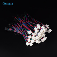 Freeshipping 20 x 10mm 4Pin Led connector Cable Solderless to BLACK Female for 3528 5050 RGB Strip