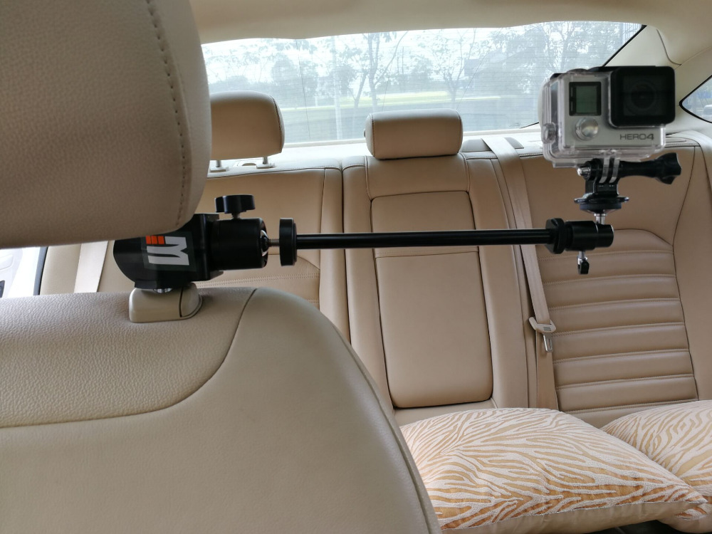 Car Headrest Clamp Mount + адаптер за статив за GoPro видео камера, видеокамери, DV, смартфони SJCAM 456000 Xiaomi yi аксесоари