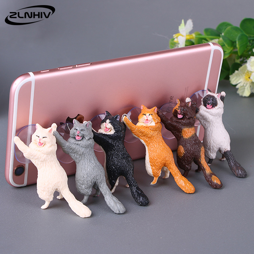 ZLNHIV Cat Mobile Phone Holder Stand Mount Support Accessories For Iphone Tablet Cell Cellphone Round Holder Smartphone Desk