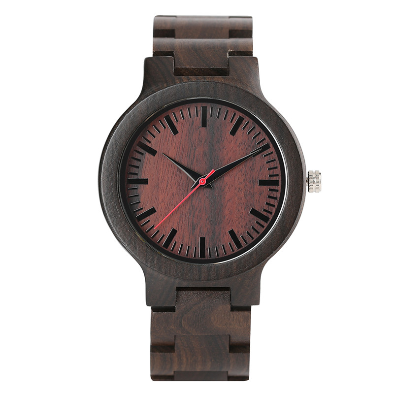 2017 New Arrival Fashion Men Full Wooden Hand-made Design Simple Quartz Wristwatch Bracelet Clasp Casual Cool Male Watch Gift
