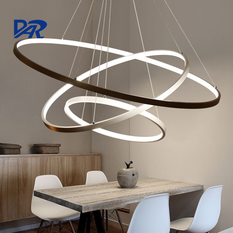 Modern Led Pendant Light Cretaive DIY 1/2/3 Circle Rings ...