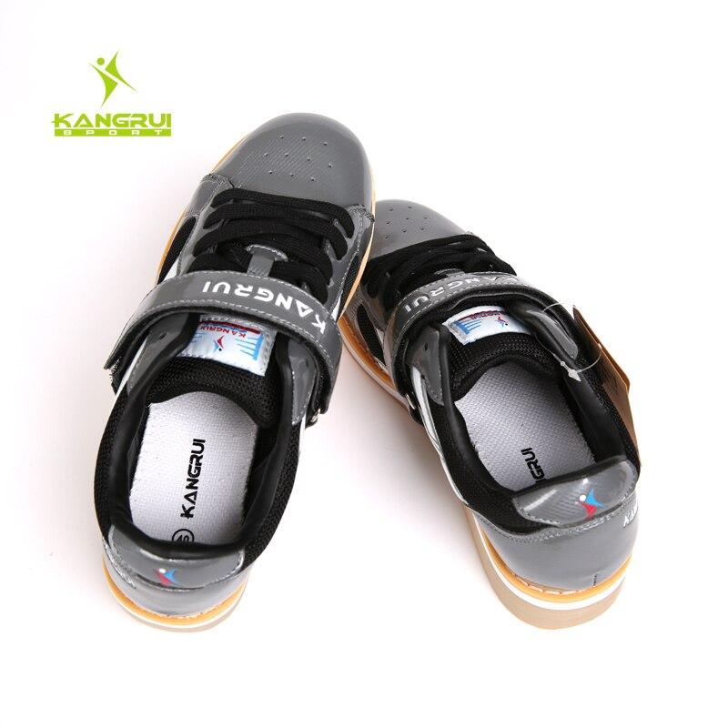 Chaussures d'haltérophilie professionnelles de haute qualité Kangrui Squat formation en cuir antidérapant chaussures de musculation - 6