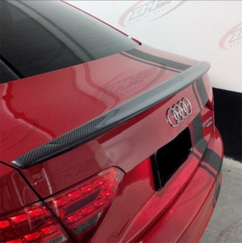 High Quality Carbon Fiber <font><b>Spoiler</b></font> For <font><b>Audi</b></font> <font><b>A5</b></font> S5 <font><b>Sportback</b></font> 2009-2016 Rear Wing <font><b>Spoilers</b></font> Auto Accessories image