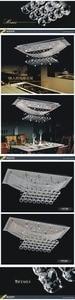 Image 3 - الكريستال الكريستال مصباح غرفة الطعام مصباح السقف الشحن مجانا قاعة عالية الجودة ضوء الثريا ضوء