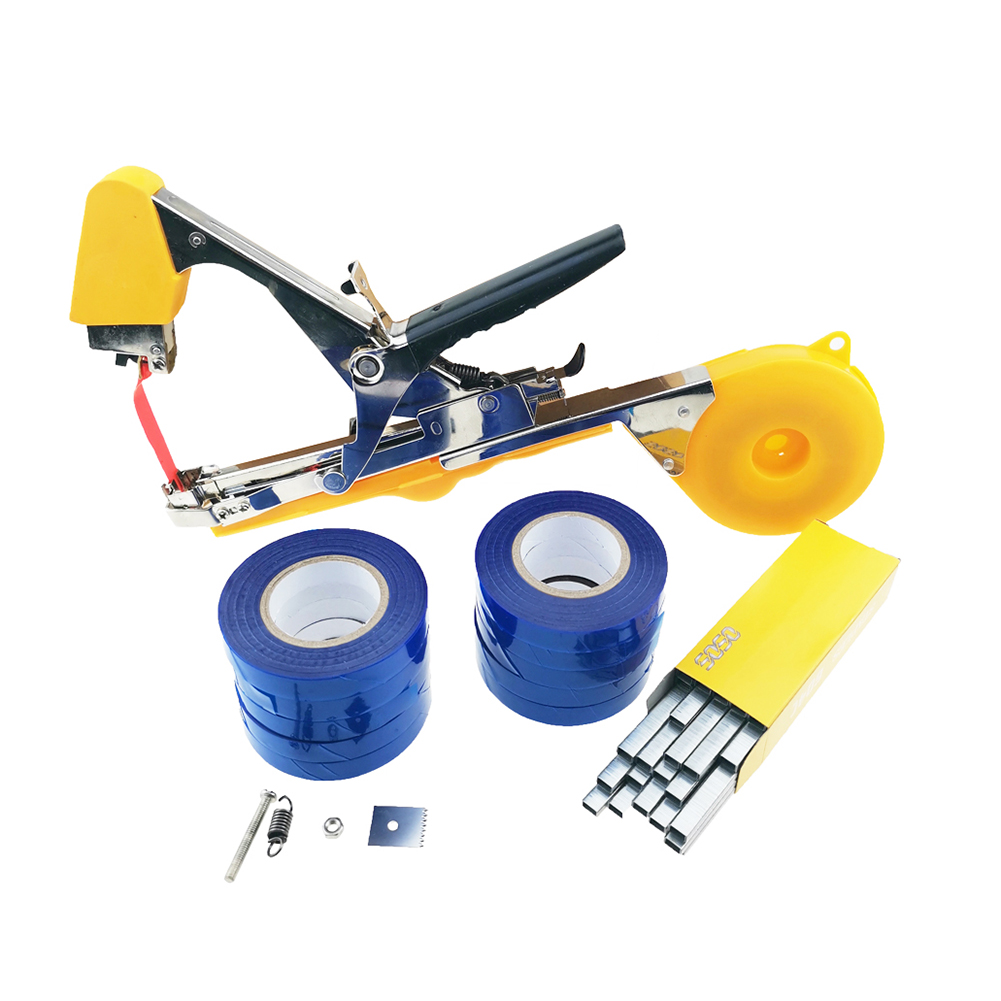 Plant Garden Tying Machine Plant Tapetool Tapener With Tape Set For Vegetable Grape Flower Branch Gardening Tying Tools
