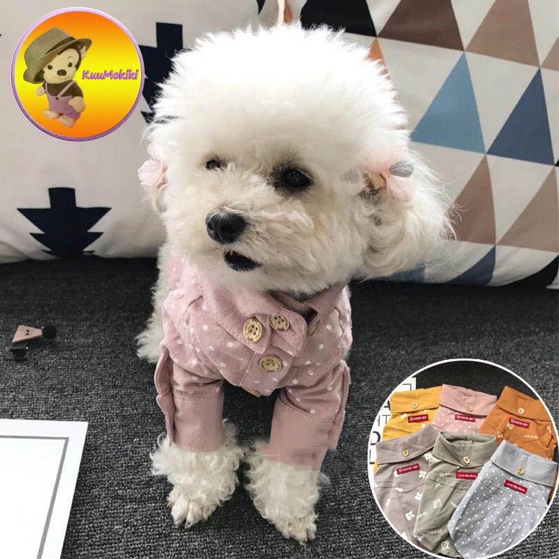 Personalize Design Six colors Puppy Uniform Suit Dog Dogs Clothes pets clothing Pet dog shirt cat shirts gentleman style