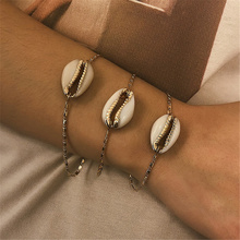 4 Pcs/ Set Bohemian Cowrie Shell Bracelet Bangle Women Punk Summer Seashell Rope Chain Adjustable Jewelry 2019 Gift