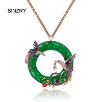 SINZRY kolye kolye taşlı peacock benzetilmiş opal big kolye kadınlar takı aksesuar