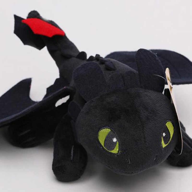 9 23 23 23cm como treinar seu dragão 3 brinquedo de pelúcia noite fúria desdentado macio pelúcia brinquedos de pelúcia para crianças presentes bonecas