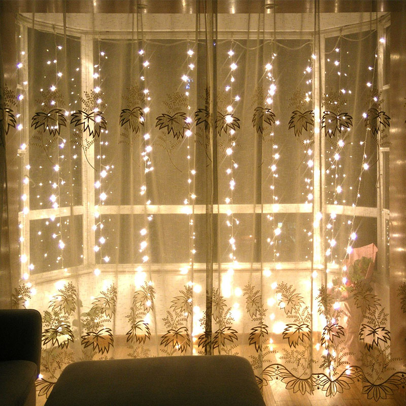 SVELTA 6x3m 600 전구 LED icicle 문자열 요정 빛 야외 - 휴일 조명 - 사진 5