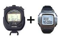 Stopwatch Timer Set Pro Cronometro Esportivo Digital Chronograph Sports Stopwatch Handheld Timer Running Countdown Timer for Men