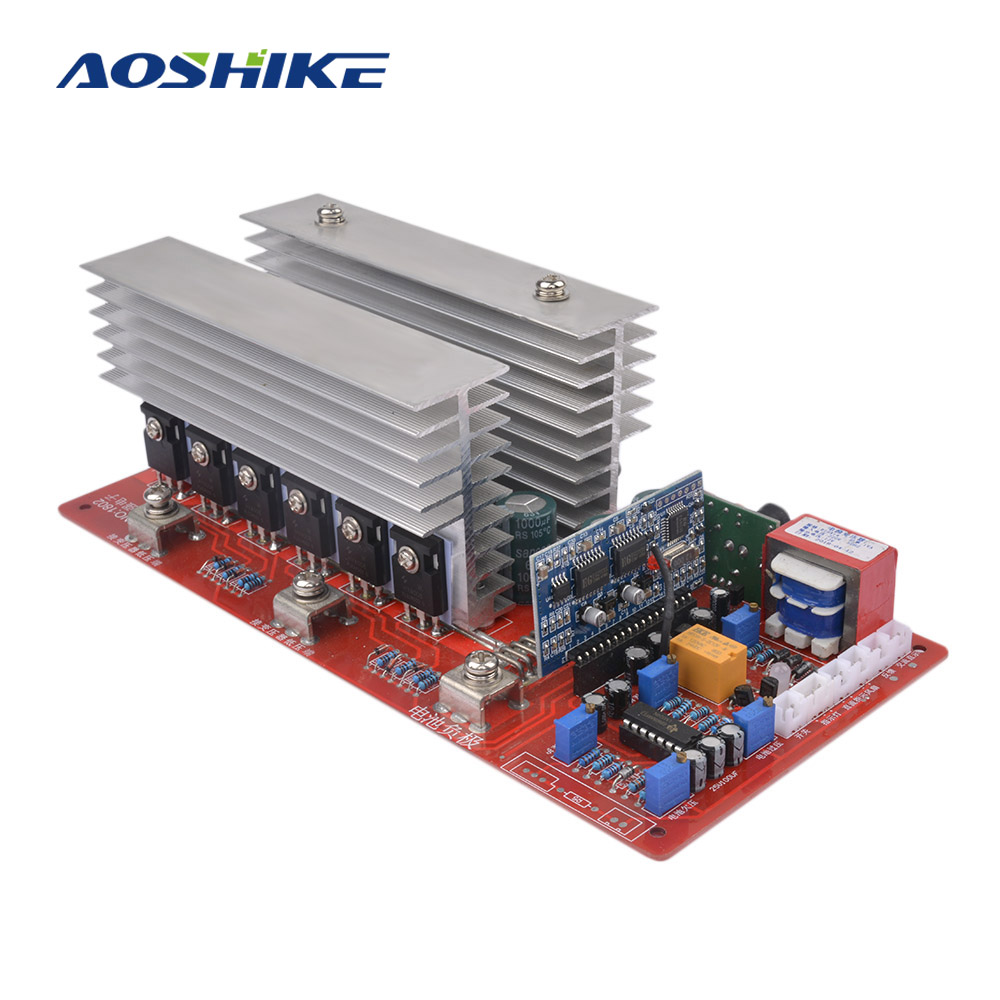 AOSHIKE 1 шт. 48 В высокое мощность чистая синусоида Частота поворотные приводы основная плата полный 5000 Вт обработанная пластина Suite