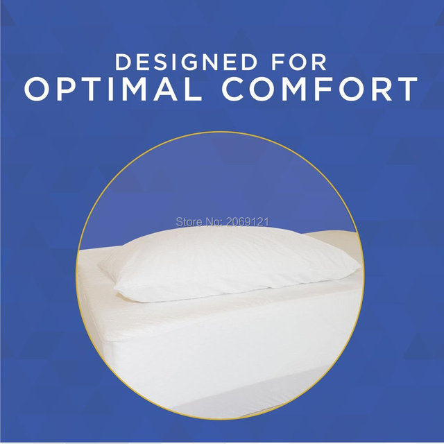 Size 50X70CM  Hypoallergenic 100% Waterproof Smooth Pillow Protector  Zippered Style -Set of 2 BedBug Proof Pillow Cover