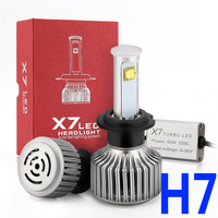Cree LED Headlight Bulbs Clear Arc Beam Kit H7 80W 7200Lm 6000K Cool White All In