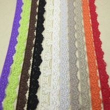 Elastic Stretch Lace trim 10 yards/lot 15/17mm width DIY headband sewing garment accessories