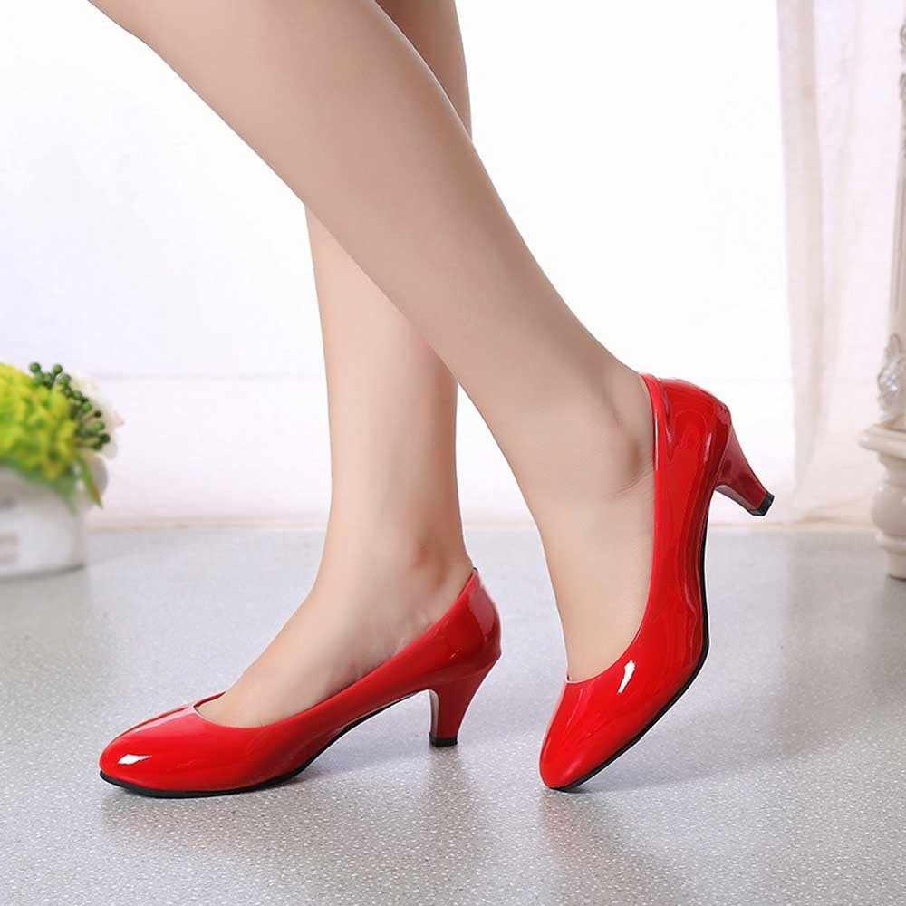 6a76670df YOUYEDIAN/туфли-лодочки, женская обувь, 2018 кожаные тонкие туфли, женские  деловые