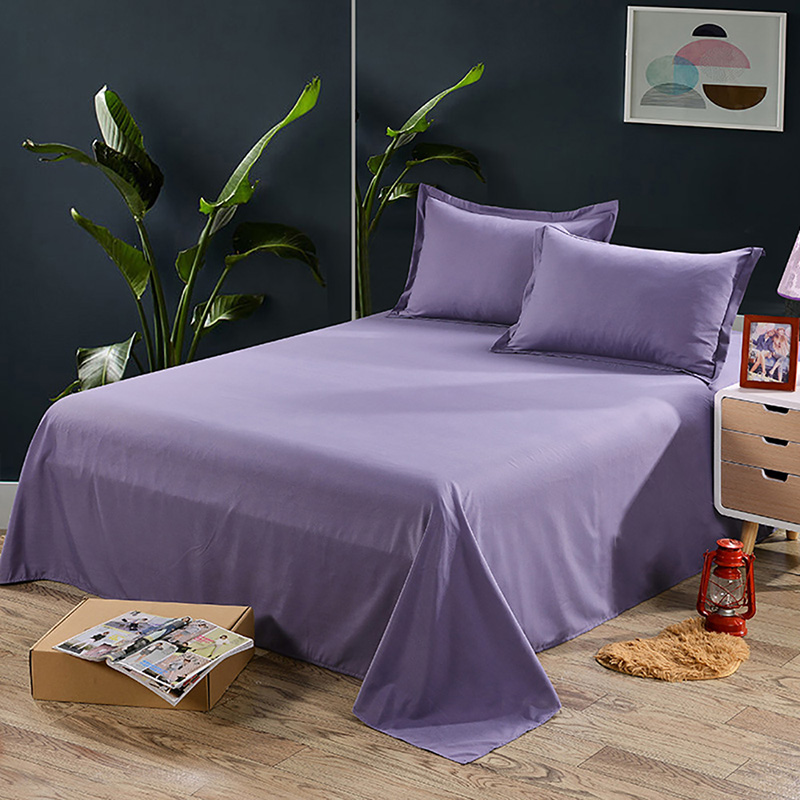 purple bed pillow case solid queen standard king size covers polyester bedding home garden